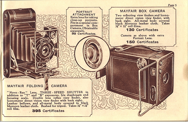 Image of Ardath Reminder Catalog 391 showing May Fair cameras